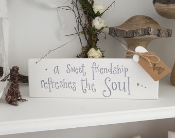Chalk white ' friendship  ' sign.. ready to dispatch