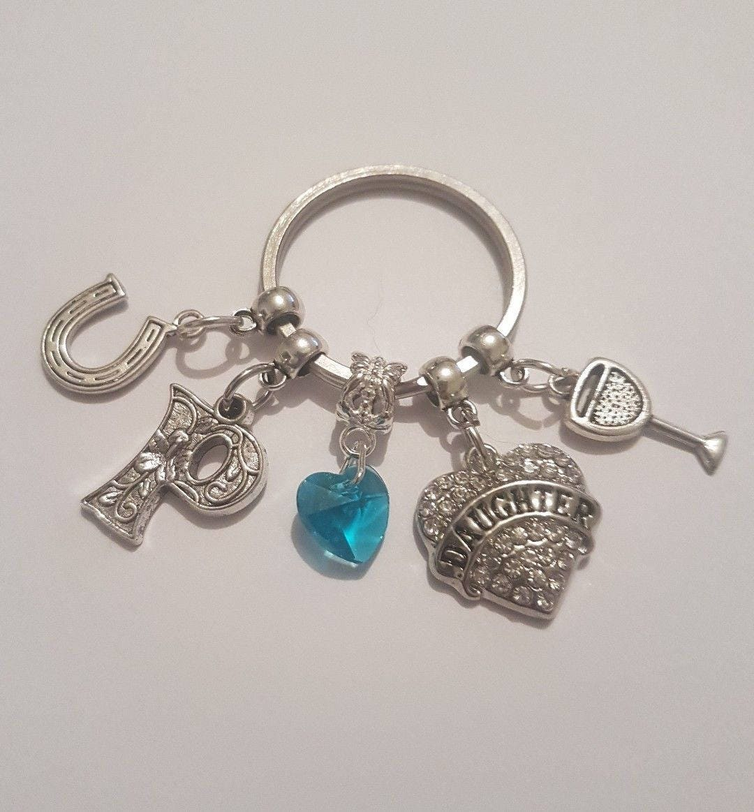Something Blue Wedding Bridal Shower Gift Keyring Keepsake For