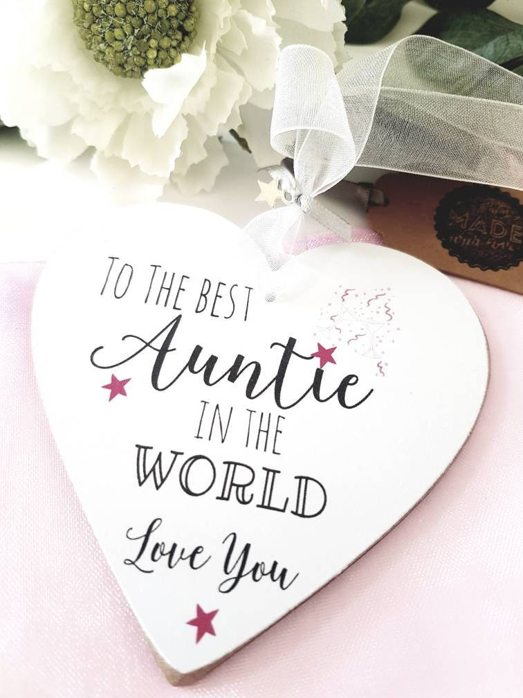 Personalised Aunty Mum Nanny Granny Gift Heart Plaque Birthday Christmas Present Pouch