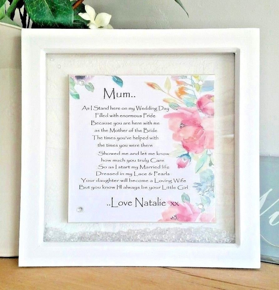 Mum Wedding Day Gift . Thank You . Mother of the Bride Personalised ...