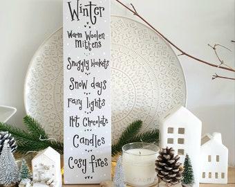 Tall ' Winter ' Sign.. 4-5 week dispatch