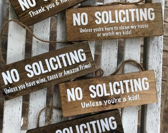 Funny No Soliciting Signs | No Soliciting | Funny Sign | Porch Sign