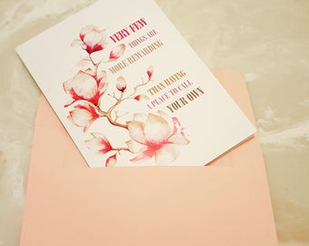 Your Own Place  House Warming Card