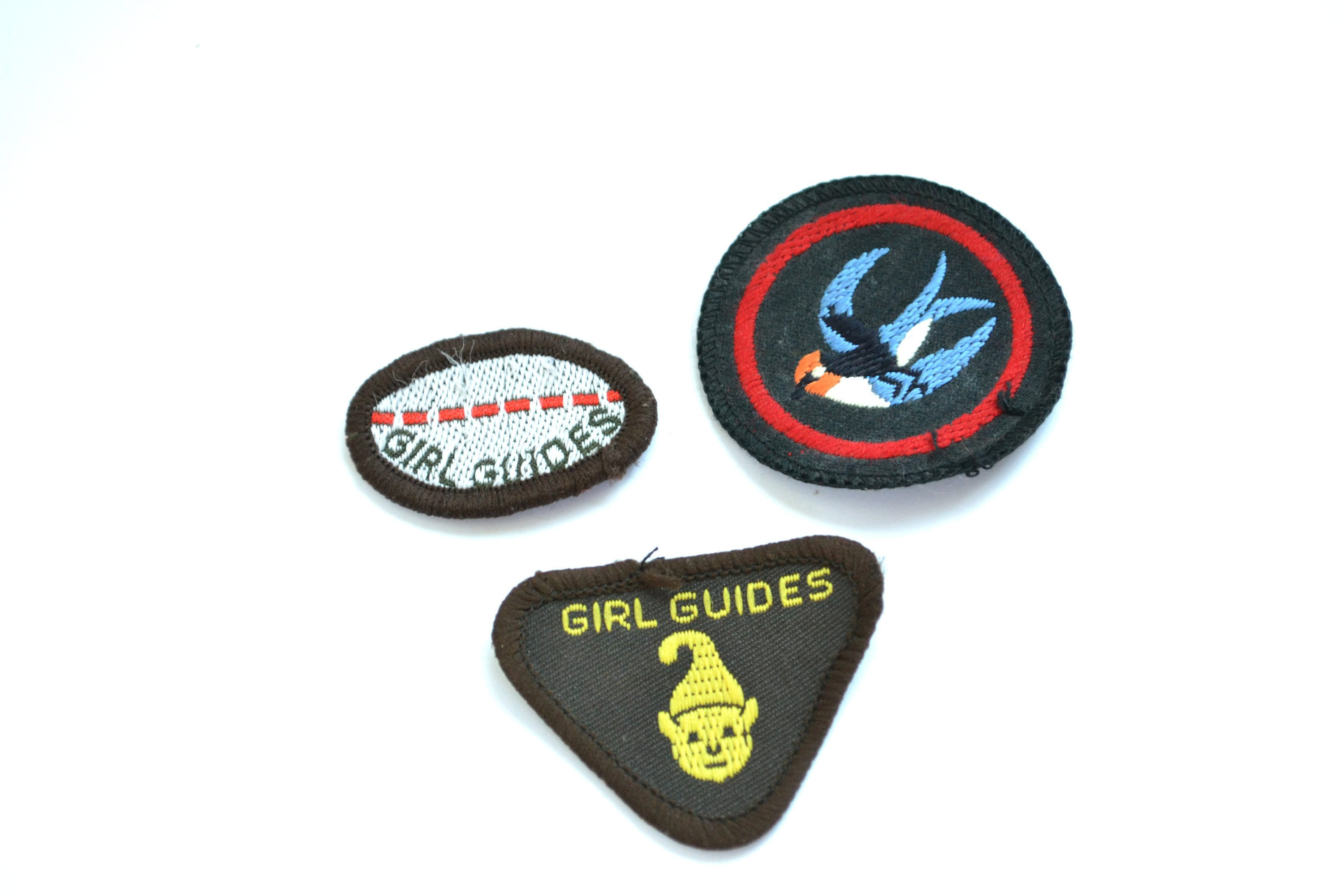 Girl Guide Embroidered Patches Vintage Girl Guides Etsy
