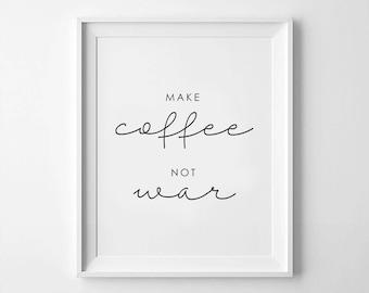 Make Coffee Not WarSWEATER SWEATSHIRT JUMPERHipster