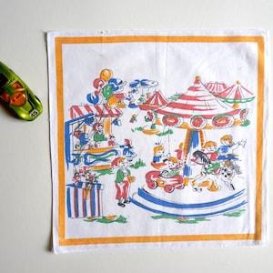 50s handkerchief Kirmes motif