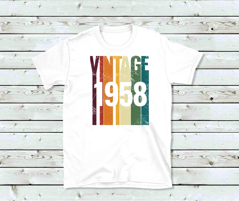 Vintage 1958 60th Birthday Shirt Funny Novelty Tee