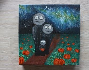 We came for pumpkins / night sky / stars / weird