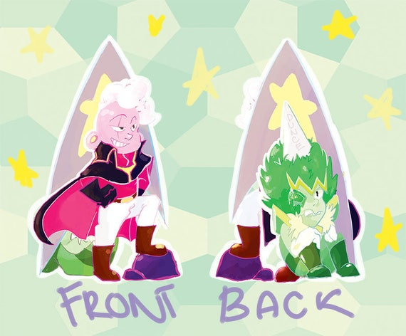 Steven Universe Captain Lars And Emerald Acrylic Charm Etsy