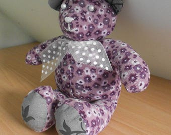 Teddy purple liberty floral