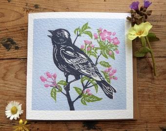 Song Bird greetings card