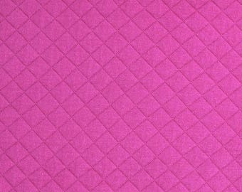 Quilted FRANCE DUVAL-STALLA Fuchsia pink Jersey fabric