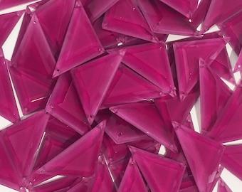 Dark pink resin bead