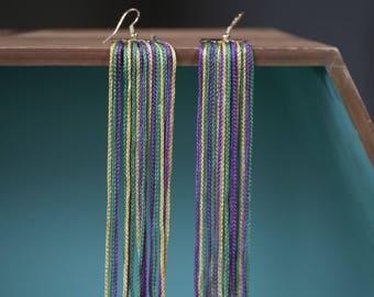 Mardi Gras Fringe earrings