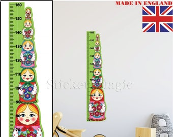 Height Growth Chart Wall Stickers NUMBERS Children Bedroom ...