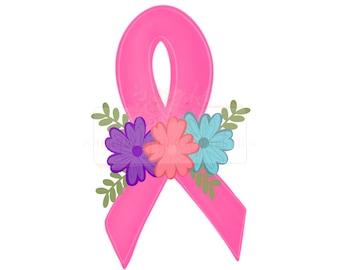 PINK RIBBON SHAMROCK  BREAST CANCER AWARENESS PATCH