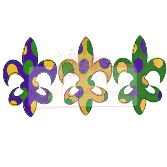 For sublimation and other crafts Mardi Gras Trio PNG
