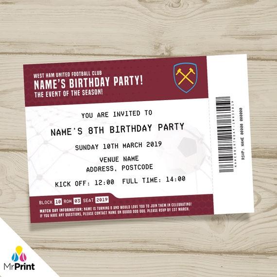 Personalised Greetings Card West Ham United F.C CREST
