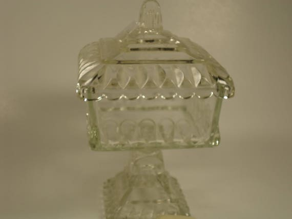 Clear Glass Pedestal Candy Dish With, Clear Glass Pedestal Candy Dish With Lid