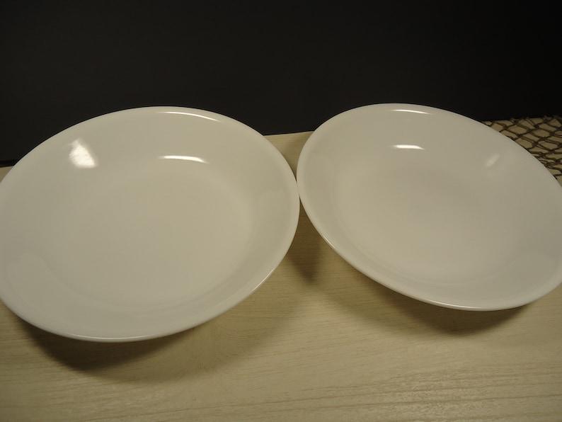 Set of 2  Corelle winter white bowls