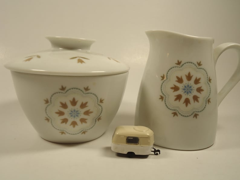 Noritake china Linfield 112 1 sugar bowl with lid 1 creamer
