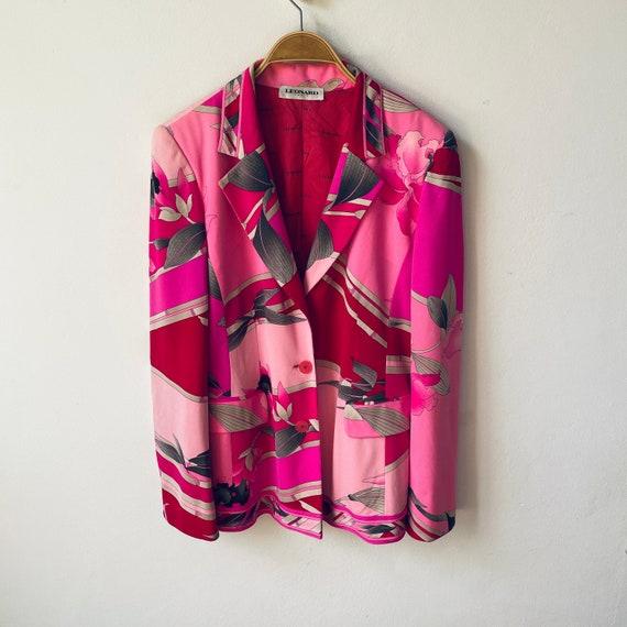 Vintage LEONARD PARIS Silk Blazer / Jacket