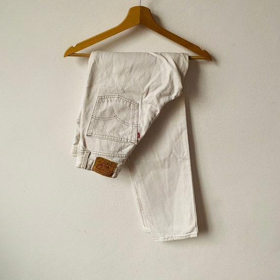 Vintage Levis 901 Women High Waist Jeans / Off Whi