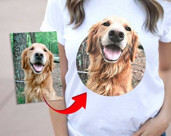 059a84231136 custom dog tshirt CARICATURE - dog on shirt - gift for dog owners - dog face  on shirt