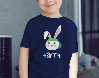 PERSONALIZED boys easter shirt - kids easter shirt - easter bunny shirt for boys - rabbit shirt - custom kids easter shirt