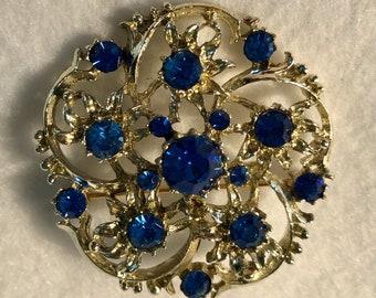 Blue Stones set in Silver Petals