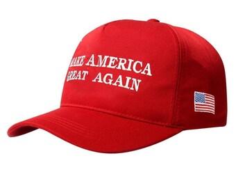 Make America Great Again Baseball Cap  Embroidered Dad Cap  Red and Black Trump  Cap  Trump Baseball Hat  Trump hat  Dad Caps Unisex MAGA CAP f455b171f5f1