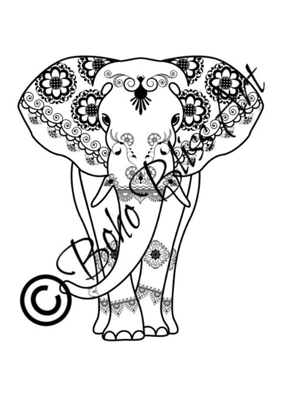 Adult Coloring Sheets Elephant Mandalas Diy Pages To Color Makes The Perfect Gift For The Elephant Lover Or For Yourself