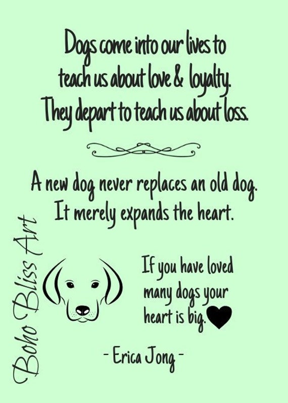 Dogs Come Into Our Lives To Teach Us About Love And Loyalty Etsy