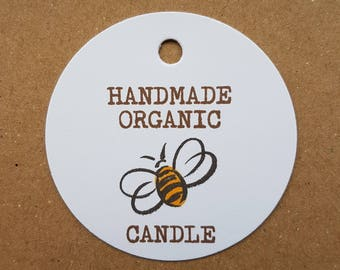 10x Handmade organic candle tags, handmade tags, swing tags, gift tags, labels, swing tags, candles, wedding favours, organic candles, gifts