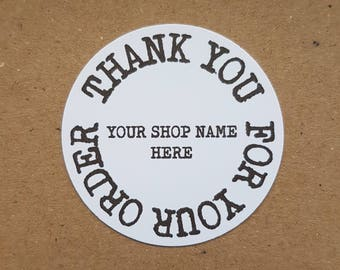 10x Personalised Thank you for your order note tag, slips, packaging notes, thank you notes, thank you tags, thank you, thank you labels,