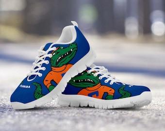 8fe1ce26e9 Florida Gators Retro Fan Unofficial Blue Custom White Sole Shoes Sneakers  Trainers - Ladies