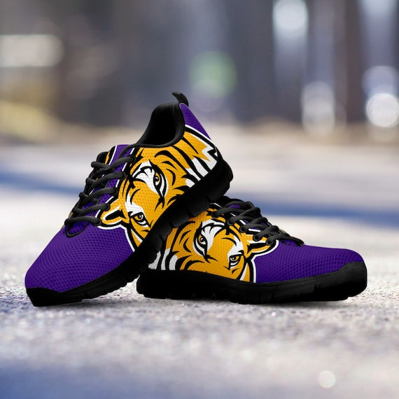 Running basketball Kids football Ladies LSU gift baseball Unofficial Custom Tigers Sneakers Black Mens Sizes Fan Trainers Shoes IqwIpf