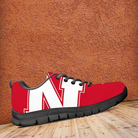 Trainers Unofficial Custom Mens Ladies Sneakers Sizes Black gift Shoes Nebraska Fan Cornhuskers x0qHwn4R