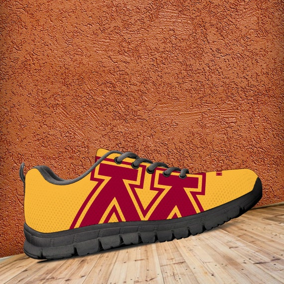 Trainers Custom Gophers Sizes Minnesota Black Golden Sneakers Shoes Ladies Kids Mens Unofficial qEBB06