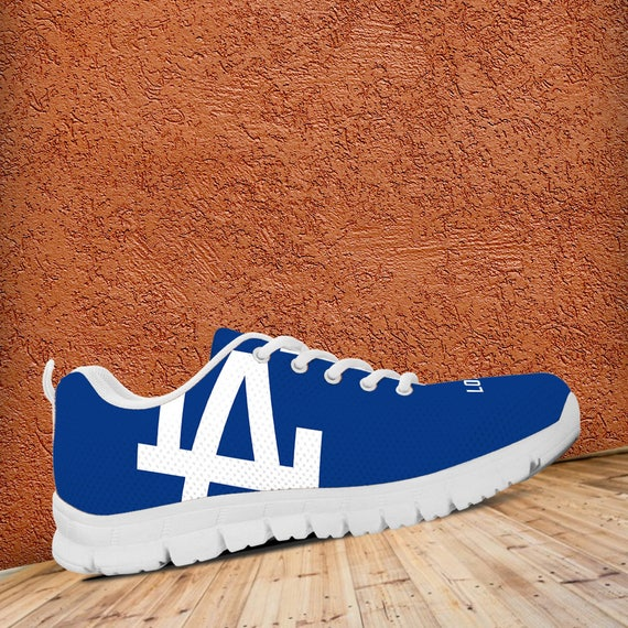 Mens LA Shoes White Trainers Unofficial Kids Sizes Fan Sneakers collector Ladies Dodgers gift Running Custom rqYr1vx