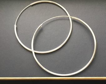 Sterling Silver Large Hoops