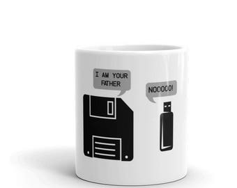 USB Floppy Disk I am Your Father Mug - Funny Geek Nerd Gifts Mug - Tech Computer Lover Gift Mug - Computer geek gifts
