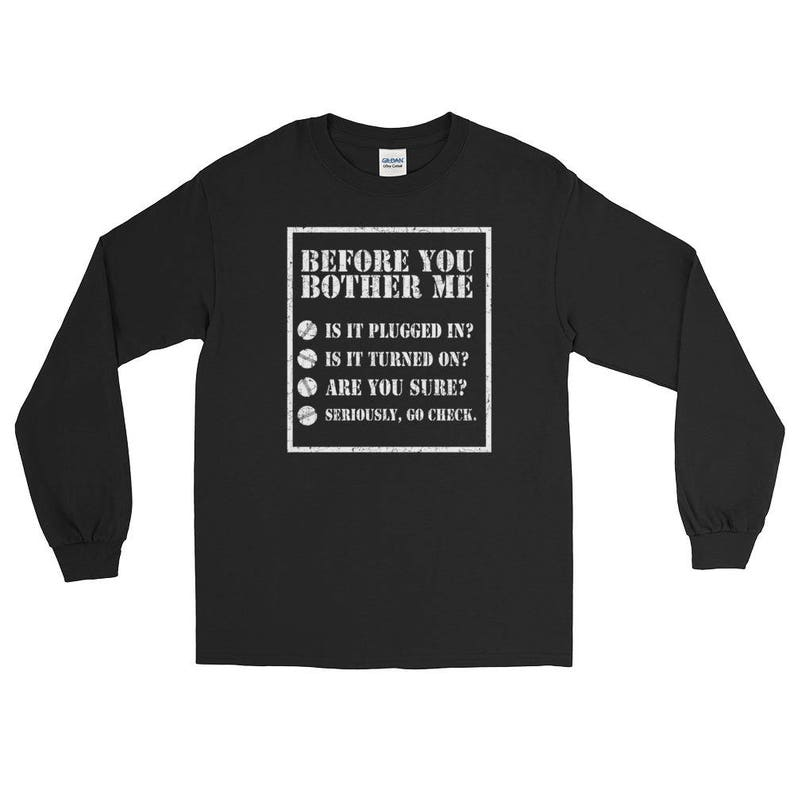 7f3834450 Funny Tech Support Helpdesk Checklist Long Sleeve T-shirt   Etsy