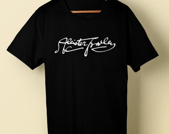 Aleister Crowley t tee shirt signature black magic