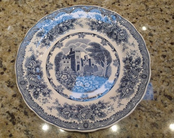 Vintage Nikko Double Phoenix Blue Willow China Country Shabby Chic