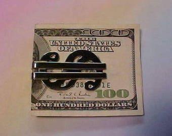 Money Clip Dollar Sign Design Sterling Silver Dollar Sign Design