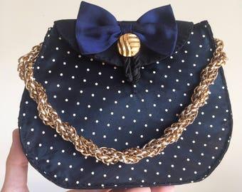 Vintage bag 80s handmade wedding party ceremony handbag ceremony years 80