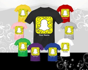 """Snapchat T-Shirt,  Get your """"SNAPCHAT QR CODE"""" on a t-shirt, and your friends can snap your shirt to add you, Snapchat tee"""