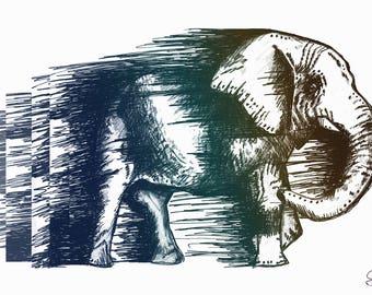 Elephantception PRINT, Matte