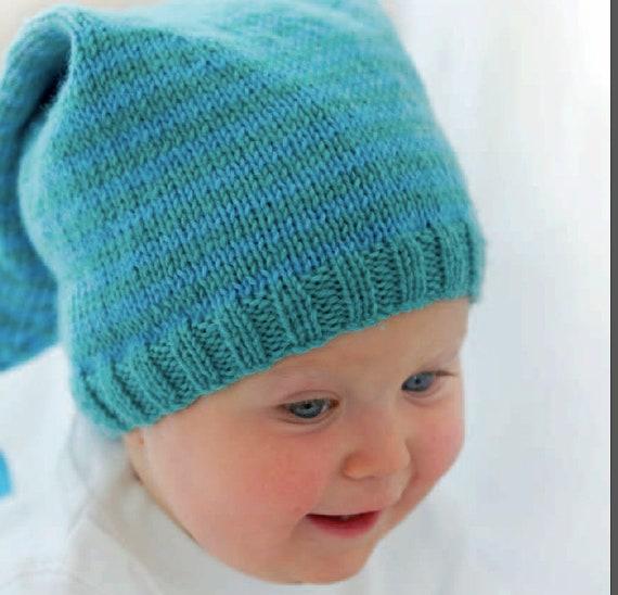 Newborn Hat For Beginners Easy Knitting Easy Pattern Pdf Etsy